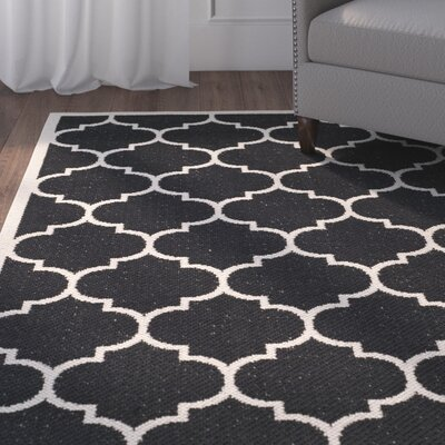 Alderman Black/Beige Indoor/Outdoor Area Rug
