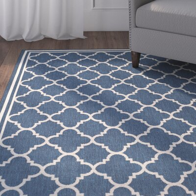 Octavius Navy Outdoor Area Rug Rug Size: Rectangle 86 x 118