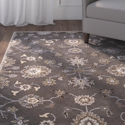 Trinningham Gray/Ivory Rug Rug Size: 5' x 8'