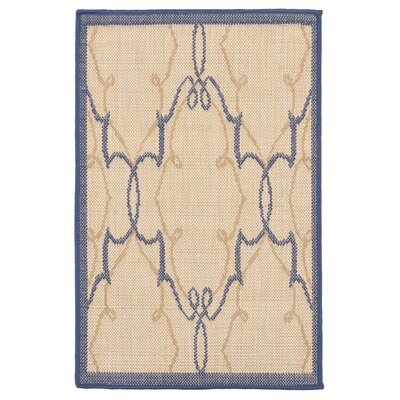 Brasstown Delicate Scroll Beige Indoor/Outdoor Area Rug Rug Size: 710 x 910