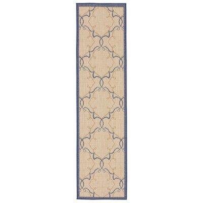 Brasstown Delicate Scroll Beige Indoor/Outdoor Area Rug Rug Size: Runner 111 x 76