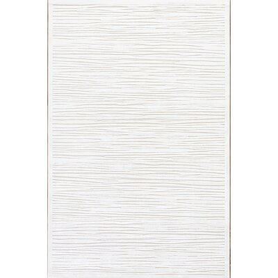 Ada Ivory & Taupe Area Rug Rug Size: 5 x 76