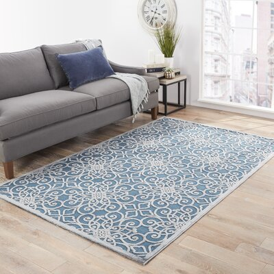 Ada Blue/Gray Area Rug Rug Size: Rectangle 5 x 76