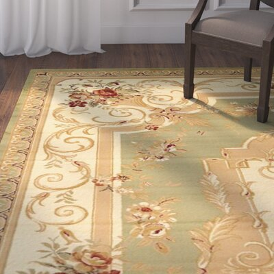 Patton Green Area Rug Rug Size: Runner 22 x 6