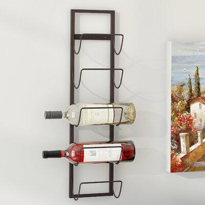 Leveson 5 Bottle Wall Mounted Wine Rack