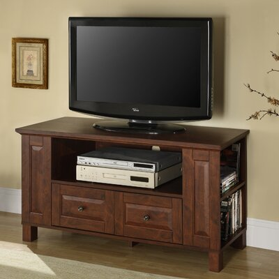 Byrd 44 TV Stand Color: Mahogany