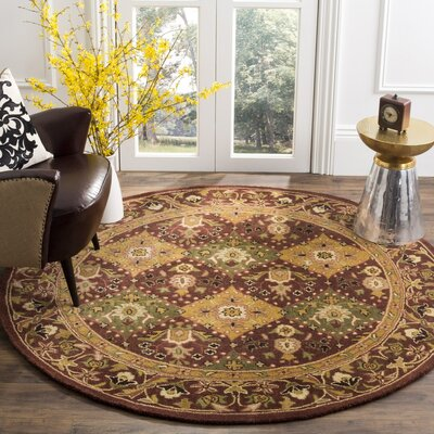 Dunbar Deep Brick Red Area Rug Rug Size: Rectangle 23 x 4