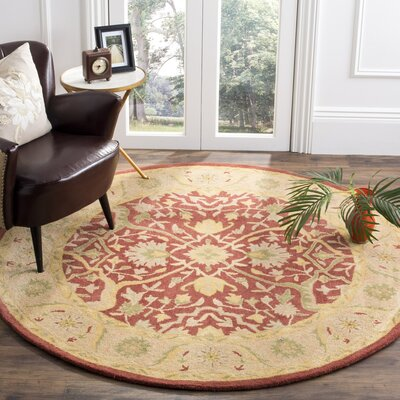 Parker Rust Area Rug Rug Size: Round 6