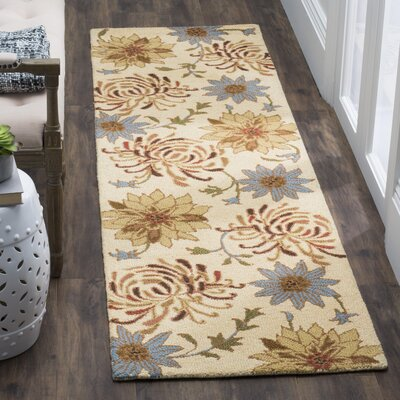 Bradwood Hand-Hooked Beige / Multi Contemporary Rug Rug Size: Runner 23 x 8