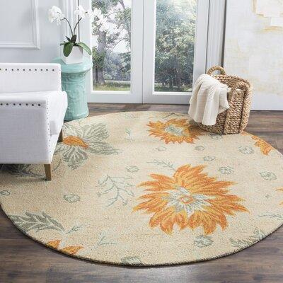 Elsner Ivory Floral Area Rug Rug Size: 5 x 8