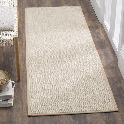 Columbus Marble / Linen Area Rug Rug Size: Runner 26 x 8
