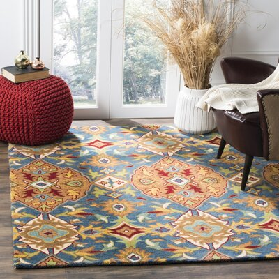 Cranmore Hand-Tufted Brown/Blue Area Rug Rug Size: Rectangle 5 x 8