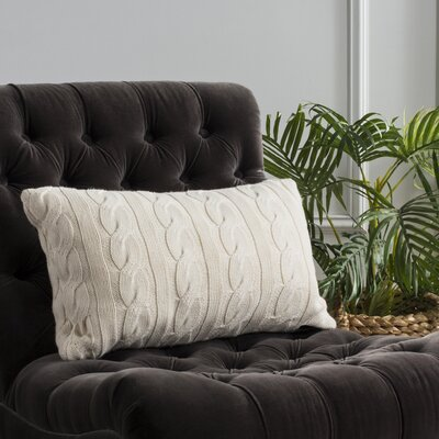 Ramona Sweater Knit Throw Pillow Size: 12 x 20