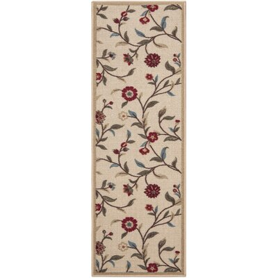 Bunyard Beige Indoor/Outdoor Area Rug Rug Size: Runner 110 x 7