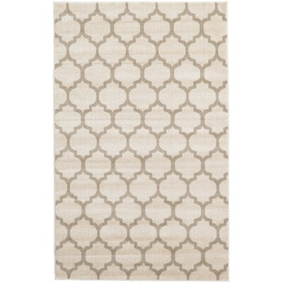 Moore Beige & Tan Area Rug Rug Size: Rectangle 5 x 8
