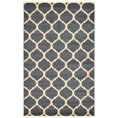 Moore Navy Blue Area Rug Rug Size: 5 x 8