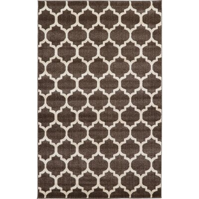 Moore Brown Area Rug Rug Size: Rectangle 5 x 8