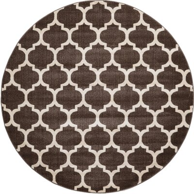 Moore Brown Area Rug Rug Size: Round 8