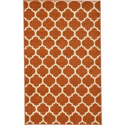 Moore Rust Area Rug Rug Size: 3'3