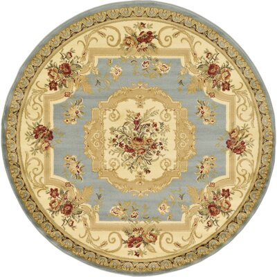 Patton Gray Area Rug Rug Size: Round 6