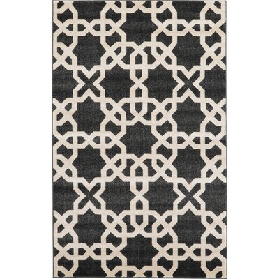 Moore Black Area Rug Rug Size: Rectangle 5 x 8