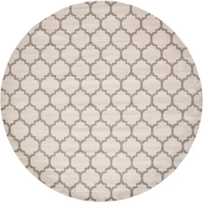 Moore Beige & Tan Area Rug Rug Size: Round 122