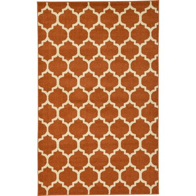 Moore Rust Area Rug Rug Size: Rectangle 106 x 165
