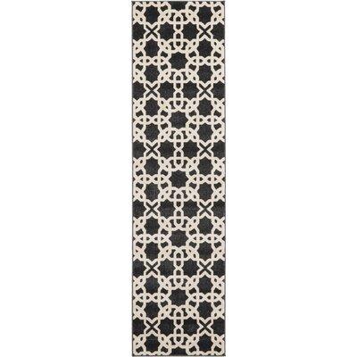 Moore Black Area Rug Rug Size: Runner 27 x 10