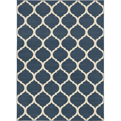 Moore Navy Blue Area Rug Rug Size: 7 x 10