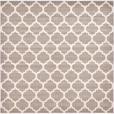 Moore Tan Area Rug Rug Size: Square 10