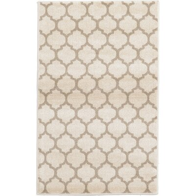Moore Beige & Tan Area Rug Rug Size: Rectangle 33 x 53