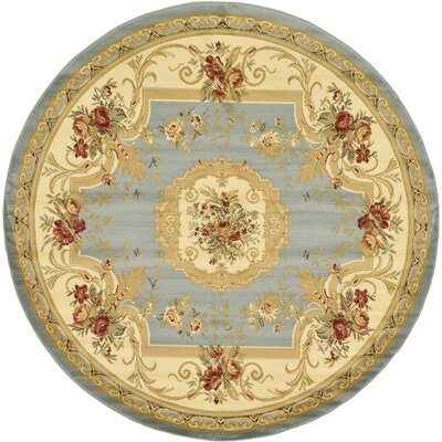 Patton Gray Area Rug Rug Size: Round 8