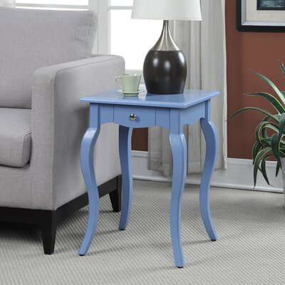 Hobart End Table With Storage Color: Blue