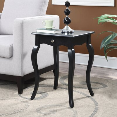 Hobart End Table With Storage Color: Black