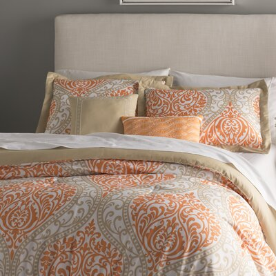Oliver Comforter Set Color: Orange, Size: King / California King