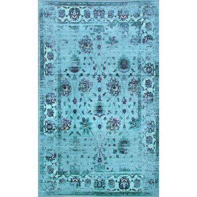 Myrtle Turquoise Area Rug Rug Size: Rectangle 6'7