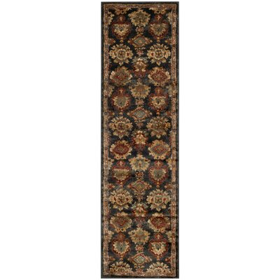 LoweBrown/Black Area Rug Rug Size: Runner 23 x 8