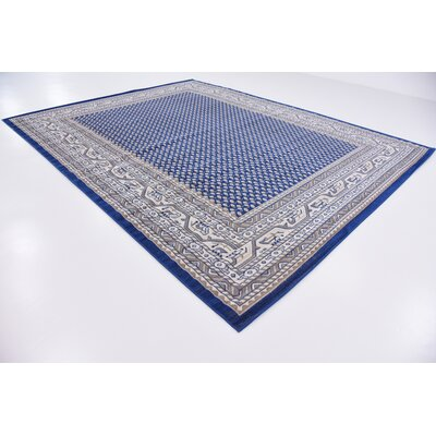 Gillam Blue Area Rug Rug Size: Rectangle 10 x 13