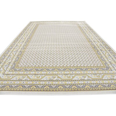 Angie Beige Area Rug Rug Size: Rectangle 9 x 12