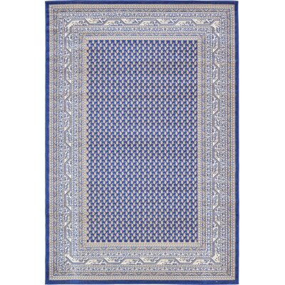 Gillam Blue Area Rug Rug Size: Rectangle 6 x 9