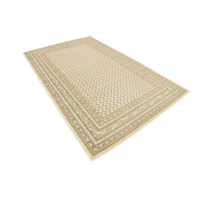 Gillam Beige Area Rug Rug Size: Rectangle 5 x 8