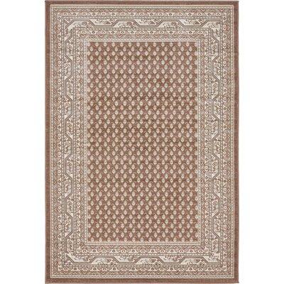 Gillam Brown Area Rug Rug Size: Rectangle 4 x 6