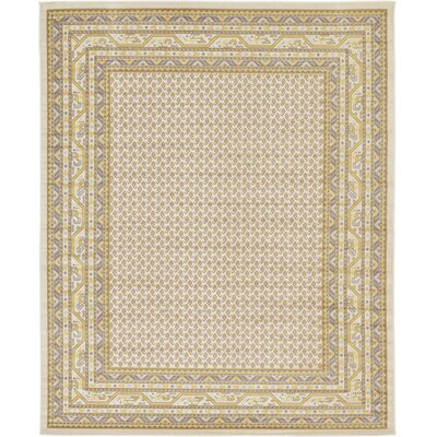 Angie Beige Area Rug Rug Size: Rectangle 8 x 10