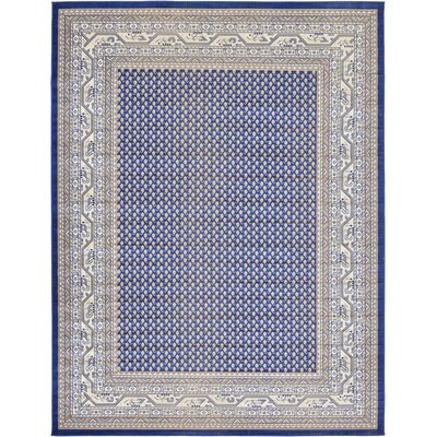 Gillam Blue Area Rug Rug Size: Rectangle 9 x 12