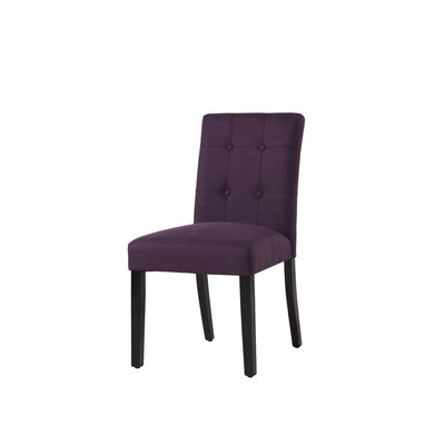 Izetta Side Chair Upholstery Color: Aubergine