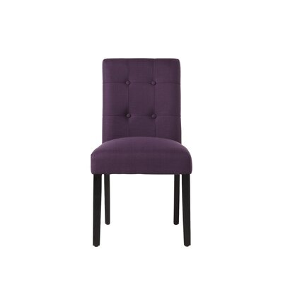 Izetta Side Chair Upholstery: Aubergine