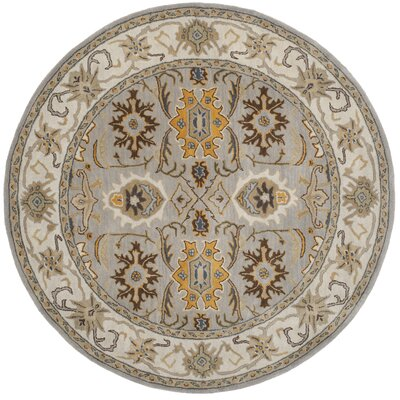 Cranmore Light Grey/Grey Area Rug Rug Size: Round 6