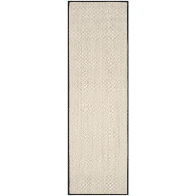 Monadnock Marble / Black Area Rug Rug Size: Runner 26 x 12