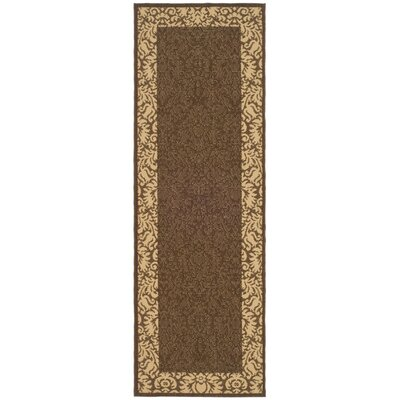 Marland Chocolate/Natural Outdoor Area Rug Rug Size: Runner 24 x 67