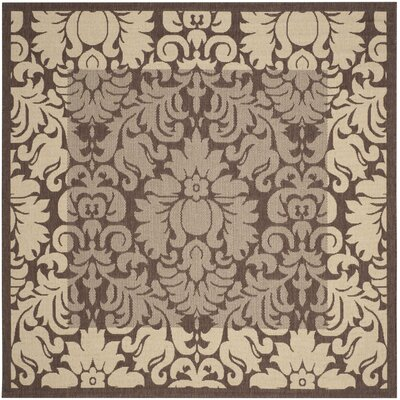 Marland Chocolate/Natural Outdoor Area Rug Rug Size: Square 67